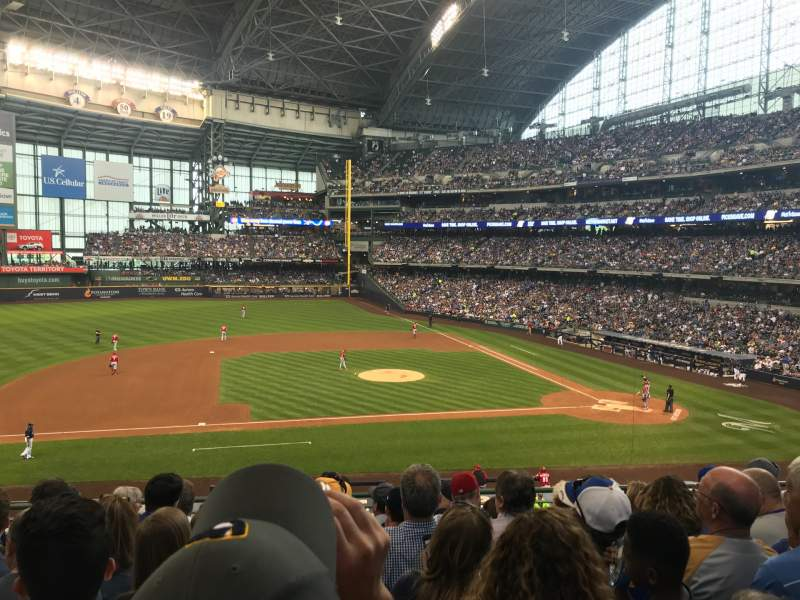 Seating view for Miller Park Section 224 Row 7 Seat 14