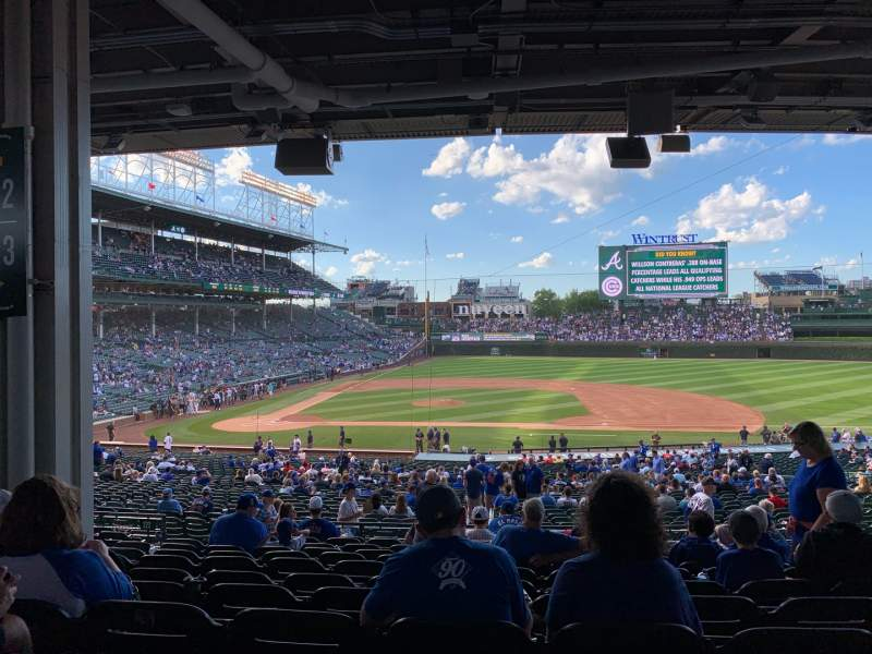 Seating view for Wrigley Field Section 223 Row 12 Seat 10