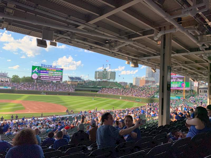 Seating view for Wrigley Field Section 222 Row 12 Seat 10