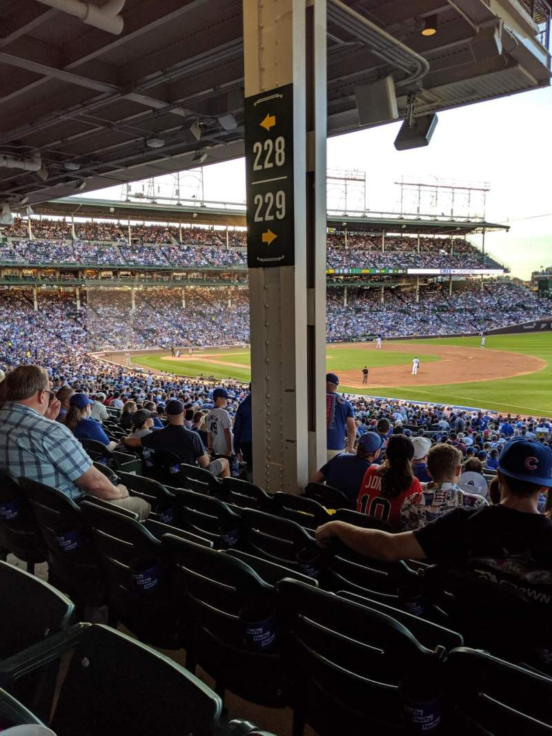 Seating view for Wrigley Field Section 229 Row 11 Seat 8