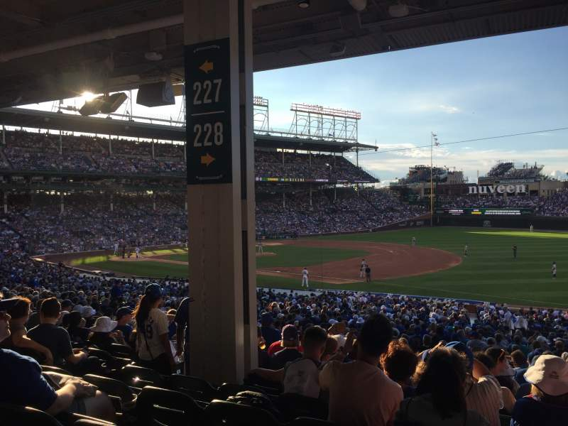 Seating view for Wrigley Field Section 228 Row 11 Seat 5-8