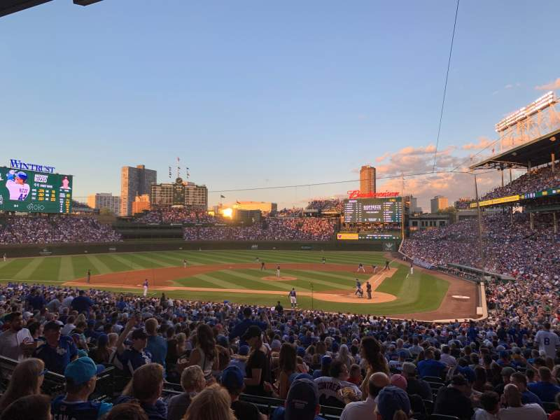 Seating view for Wrigley Field Section 214 Row 5 Seat 17/18