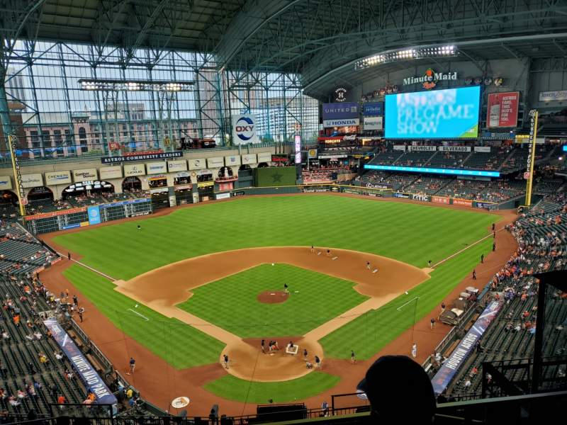 Seating view for Minute Maid Park Section 419 Row 2 Seat 12
