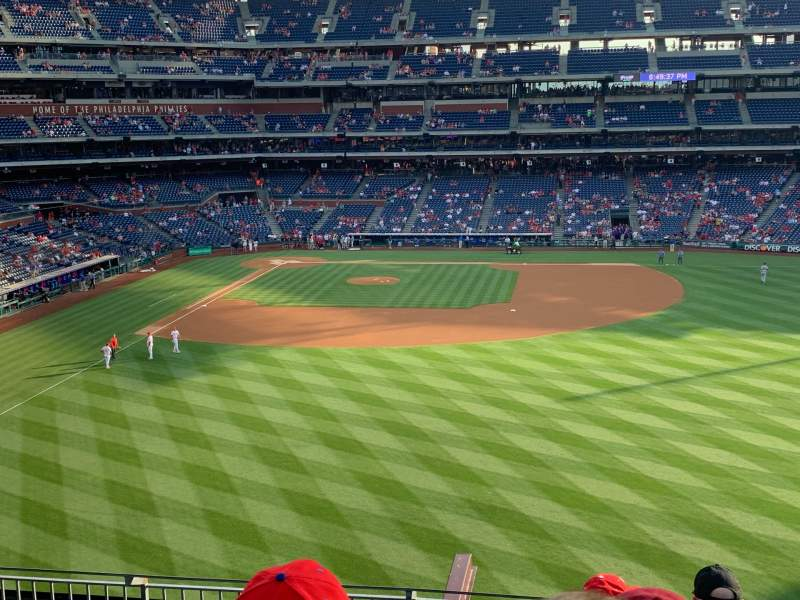 Seating view for Citizens Bank Park Section 206 Row 6 Seat 4