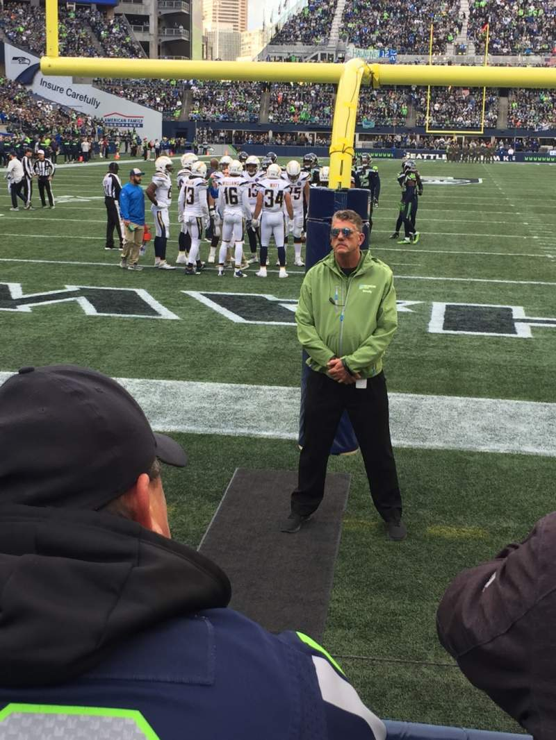 Seating view for CenturyLink Field Section 122 Row B