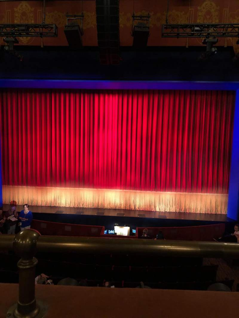 Seating view for Longacre Theatre Section Mezzanine C Row A Seat 105
