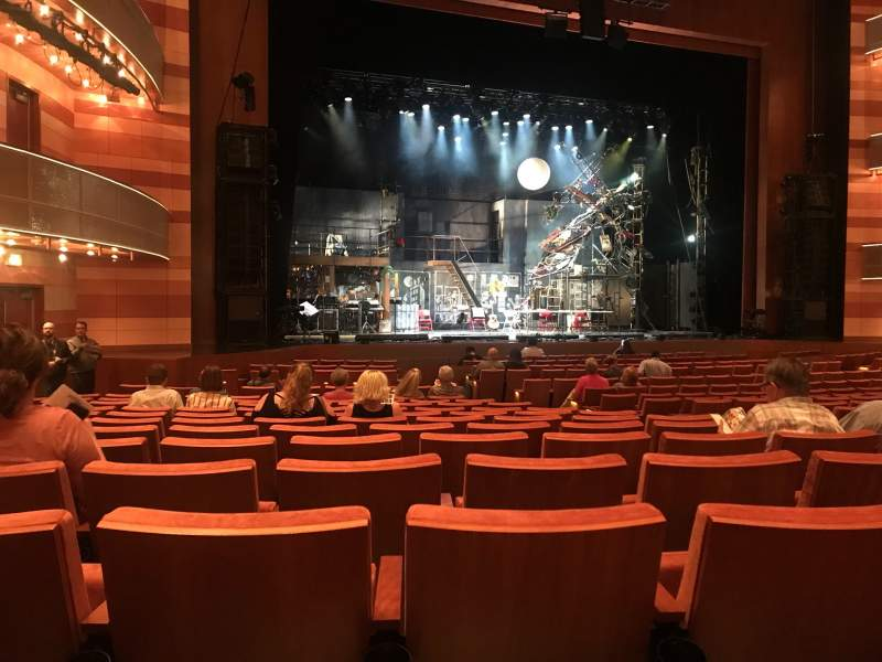 Seating view for Eccles Theater Section Orchestra L Row R Seat 114