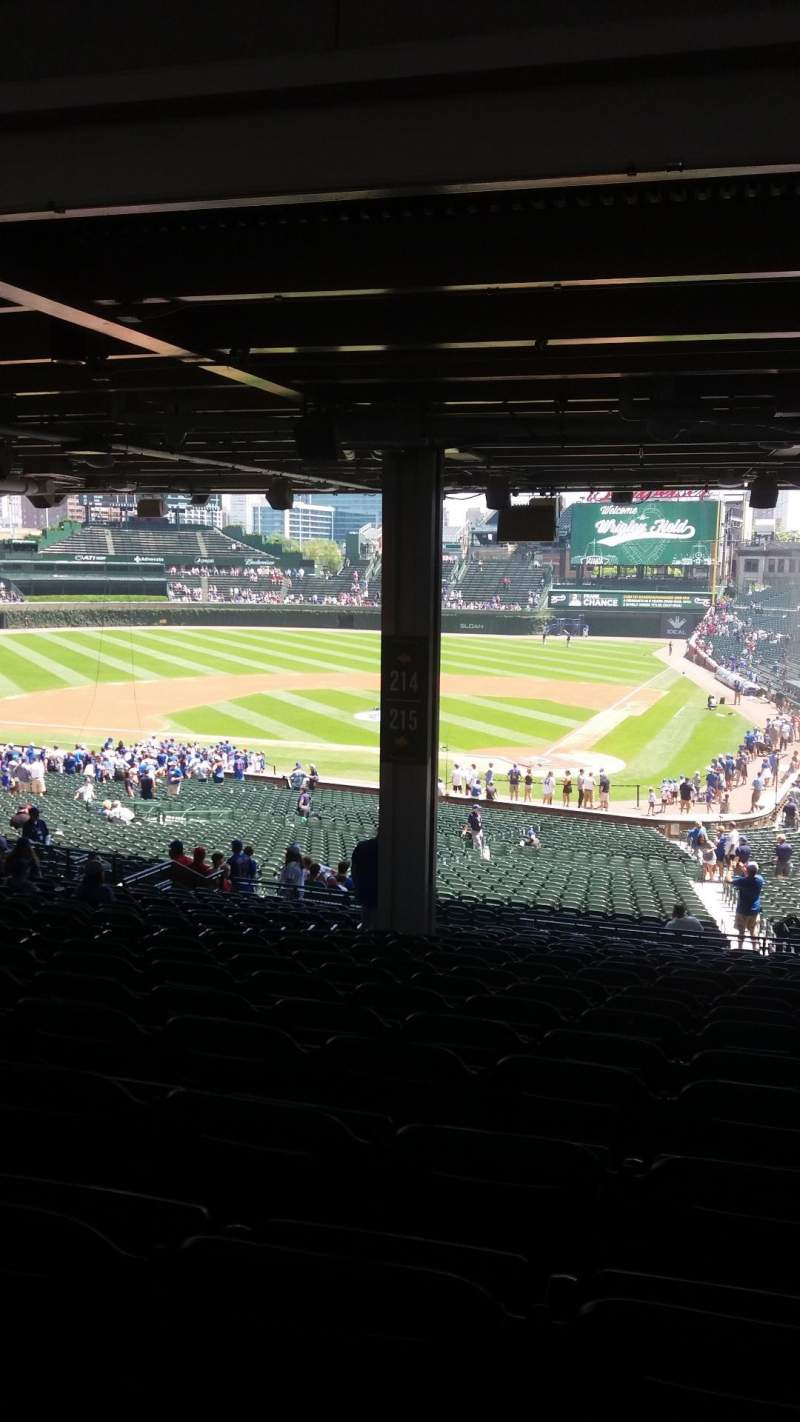 Seating view for Wrigley Field Section 215 Row 20 Seat 8