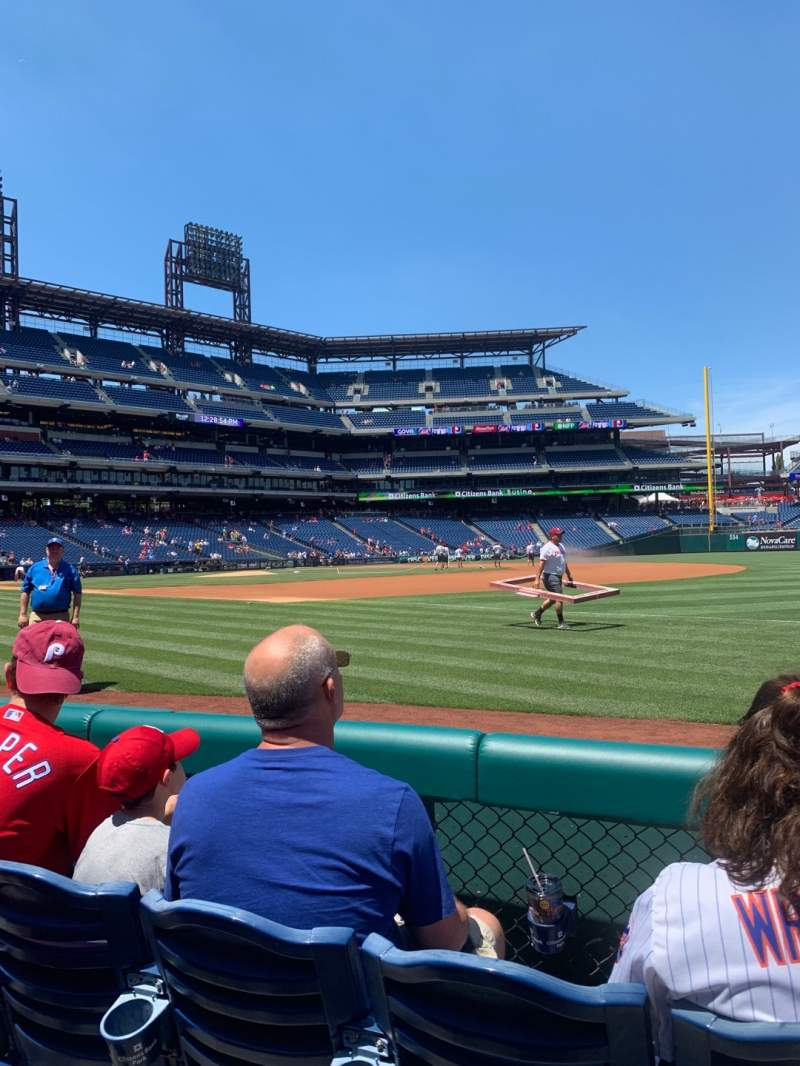 Seating view for Citizens Bank Park Section 112 Row 3 Seat 7