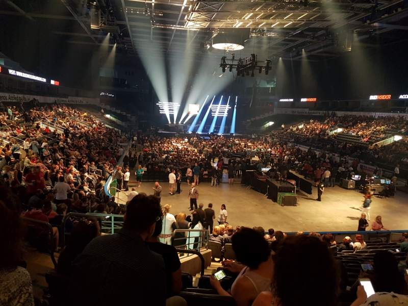 Seating view for Budweiser Gardens  Section 110 Row S Seat 21
