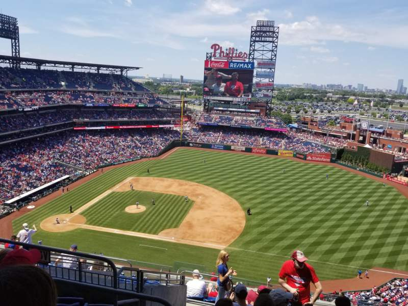 Seating view for Citizens Bank Park Section 413 Row 13 Seat 21