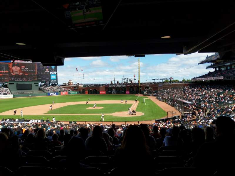 Seating view for Oracle Park Section 119 Row 40 Seat 9