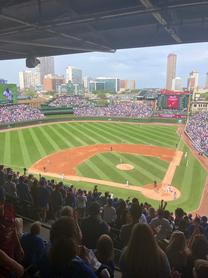 Seating view for Wrigley Field Section 414L Row 5 Seat 15