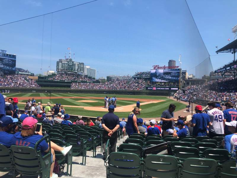Seating view for Wrigley Field Section 116 Row 2 Seat 3