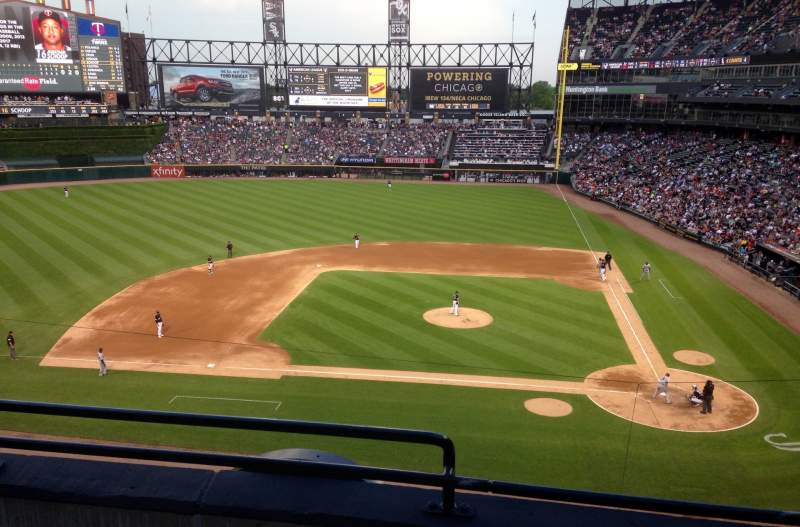 Seating view for Guaranteed Rate Field Section 336 Row 3 Seat 13