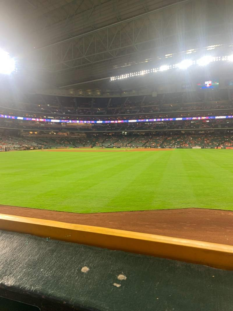 Seating view for Minute Maid Park Section 155 Row 1 Seat 1-2
