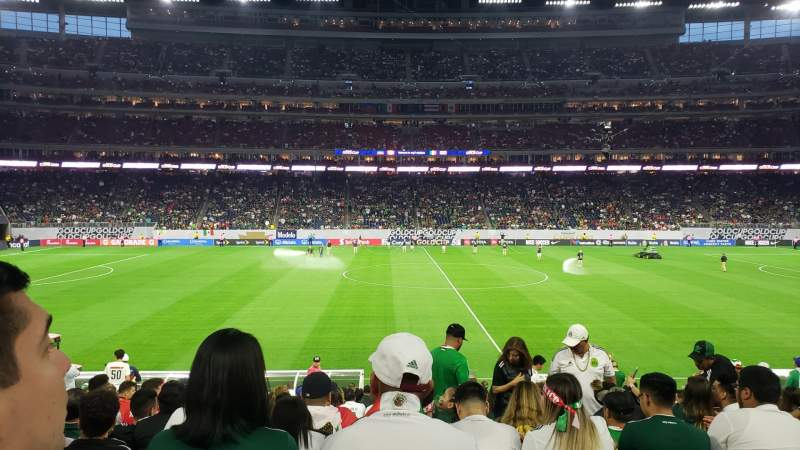 Seating view for NRG Stadium Section 107 Row U Seat 10