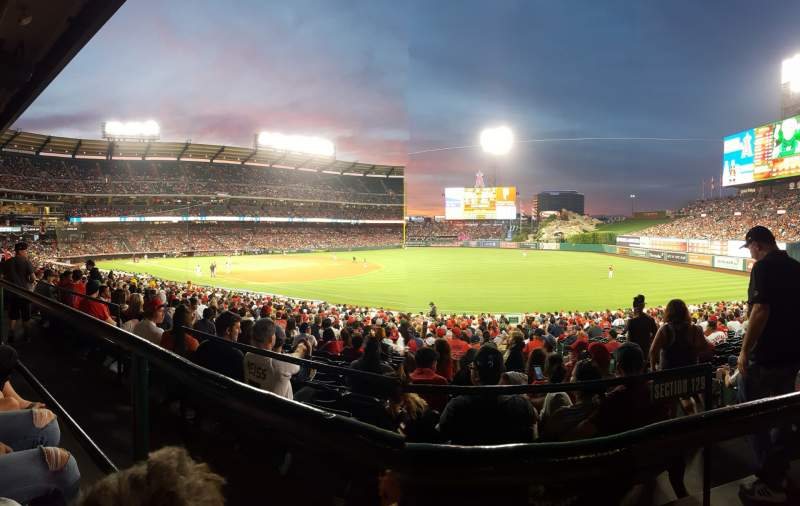 Seating view for Angel Stadium Section T227 Row A Seat 10