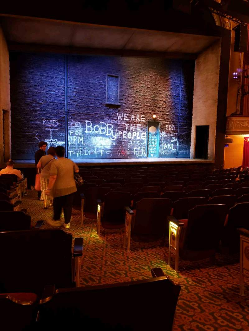 Seating view for Bernard B. Jacobs Theatre Section orchestra l Row m Seat 5