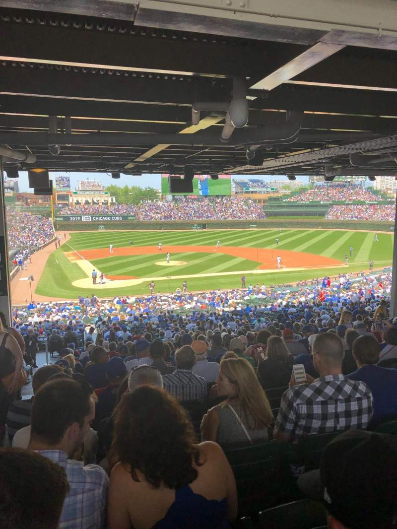 Seating view for Wrigley Field Section 221 Row 20 Seat 1-4