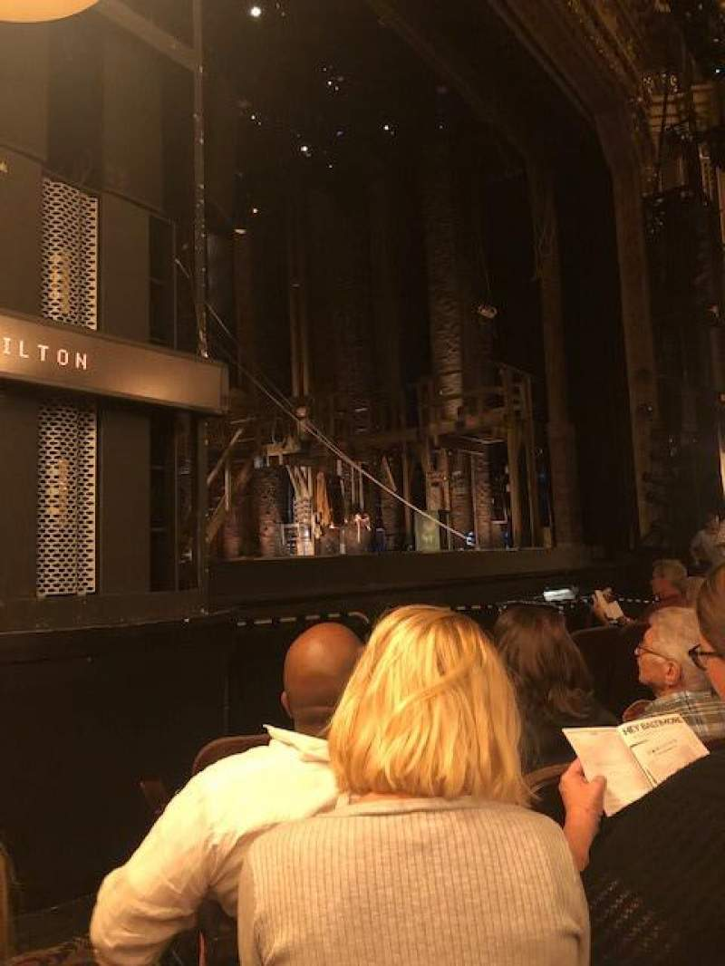 Seating view for Hippodrome Theatre Section Left Orchestra Row E Seat 13-15