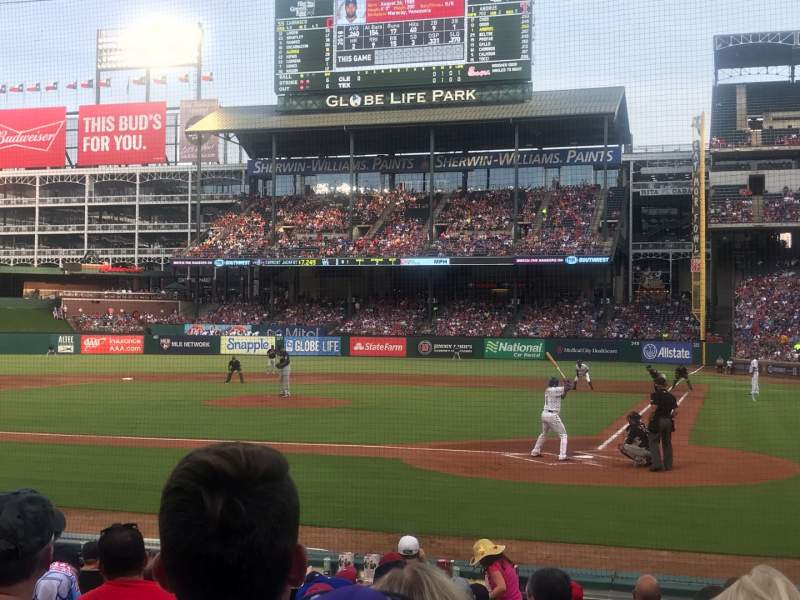 Seating view for Globe Life Park in Arlington Section 22 Row 8 Seat 9