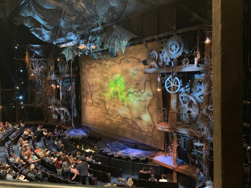 Seating view for Gershwin Theatre Section FMEZZ Row AA Seat 2