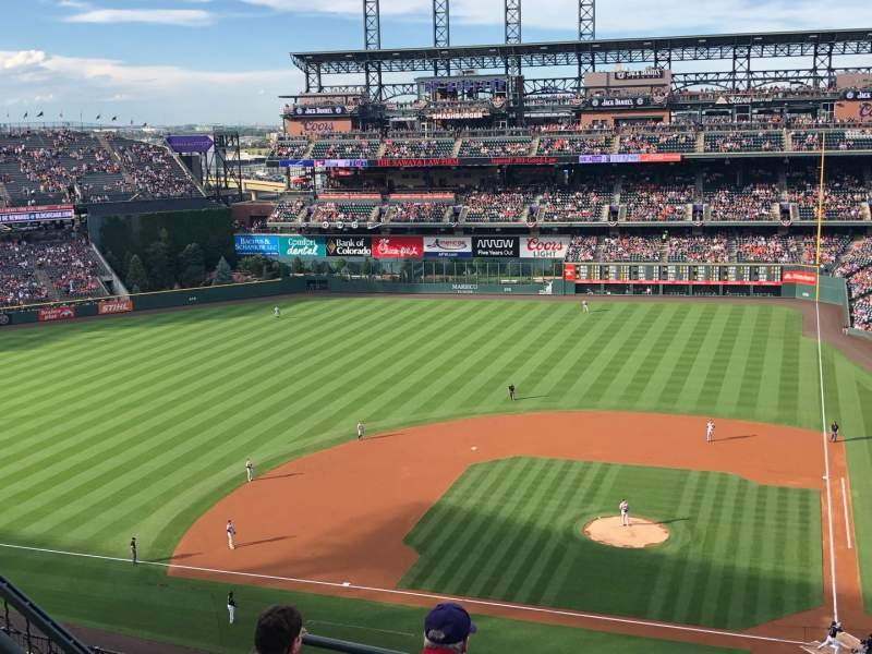 Seating view for Coors Field Section U335 Row 10 Seat 12