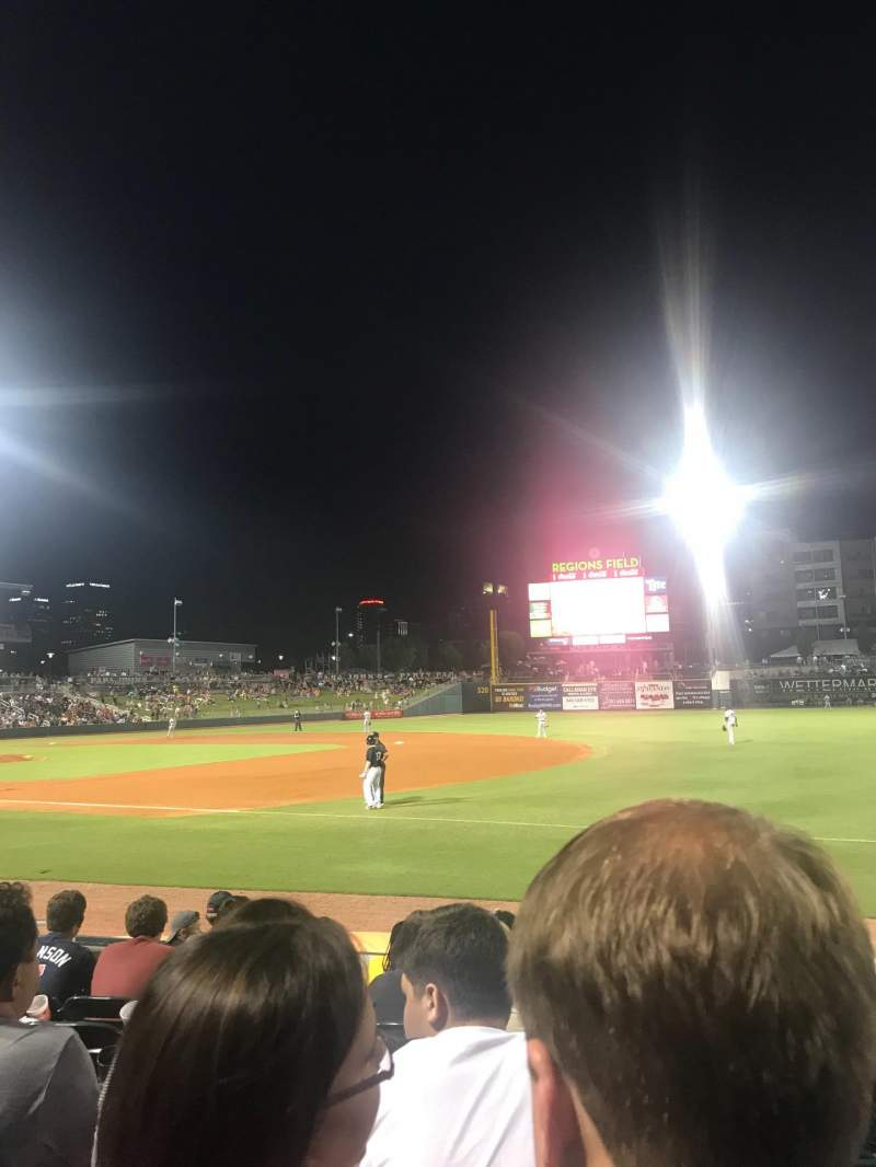 Seating view for Regions Field Section 116 Row H Seat 8