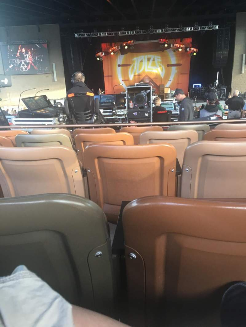 Seating view for Bethel Woods Center for the Arts Section 100 Row L Seat 16