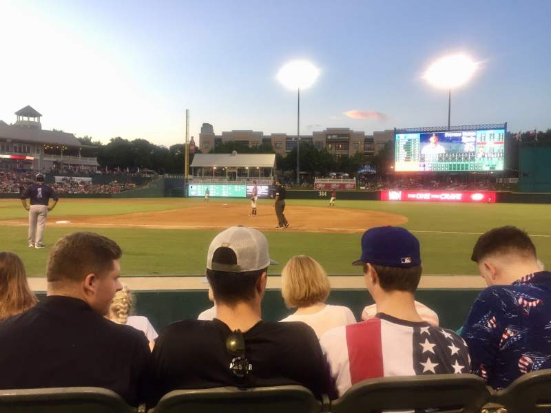 Seating view for Dr Pepper Ballpark Section 121 Row 4 Seat 11