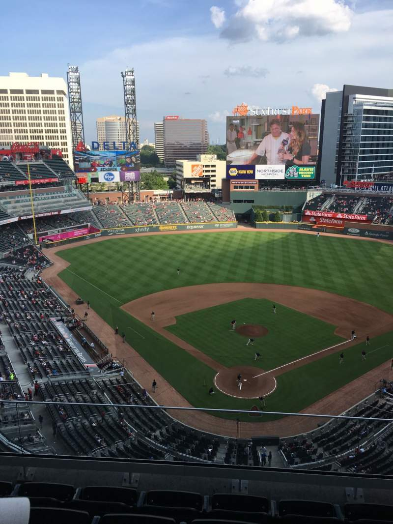 Seating view for SunTrust Park Section 426 Row 5 Seat 5