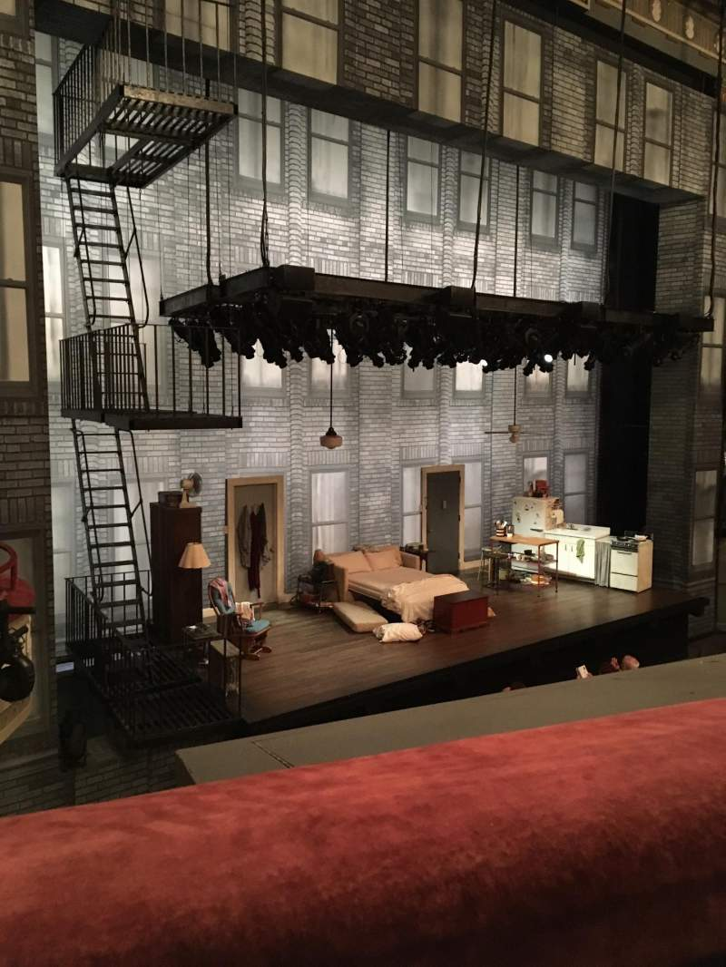 Seating view for Broadhurst Theatre Section Mezzanine L Row A Seat 19
