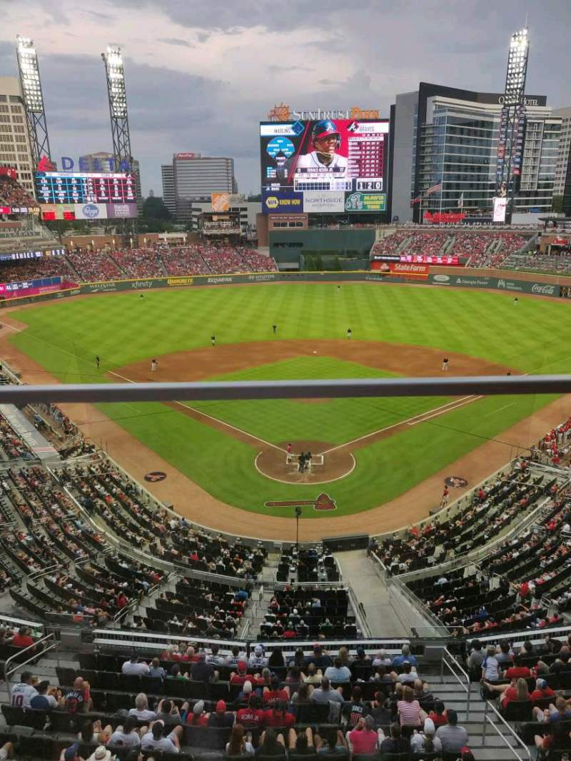 Seating view for SunTrust Park Section 326 Row 1 Seat 9