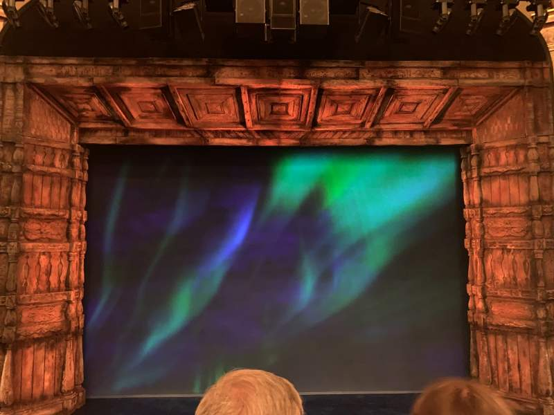 Seating view for St. James Theatre Section Mezzanine C Row B Seat 108