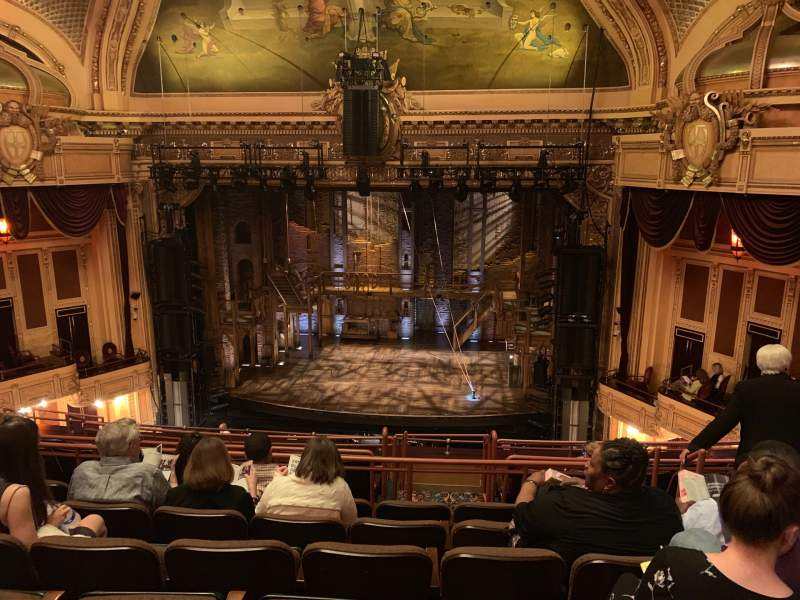 Seating view for Hippodrome Theatre Section Center Middle Balcony Row J Seat 316