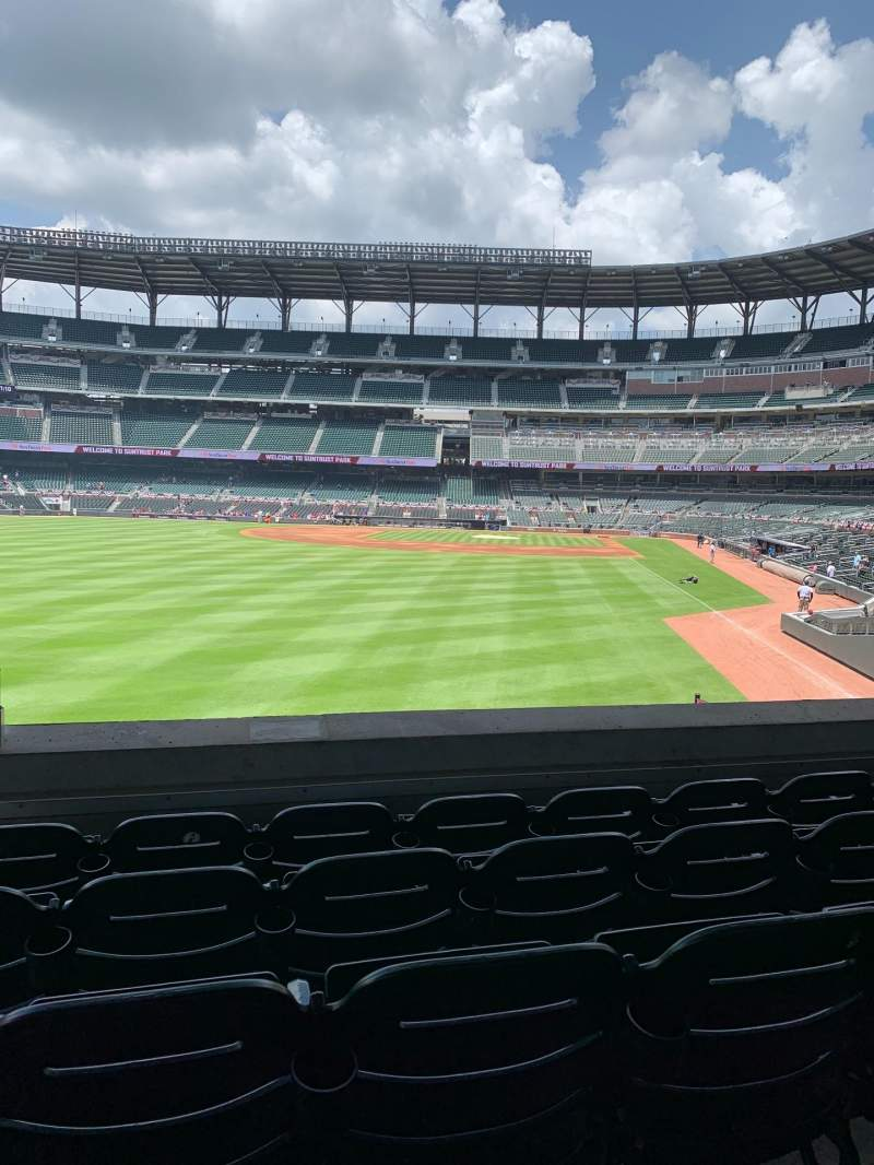 Seating view for SunTrust Park Section 144 Row 13 Seat 20