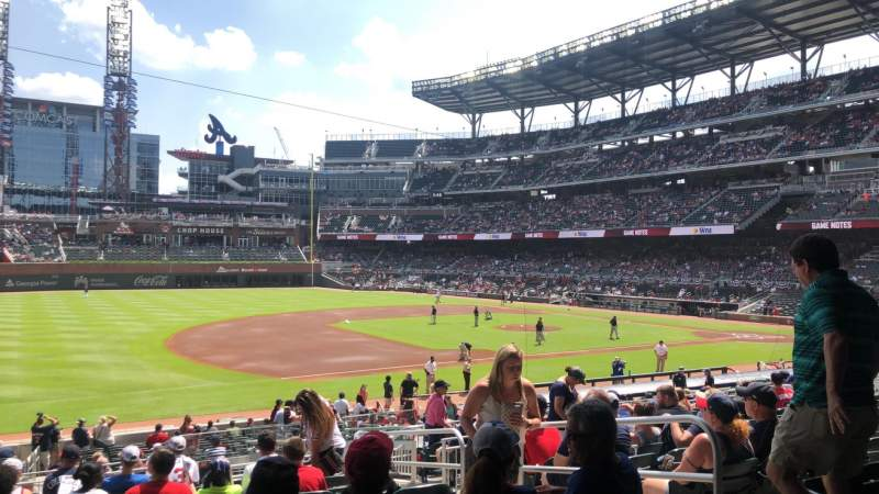 Seating view for SunTrust Park Section 137 Row 12 Seat 5