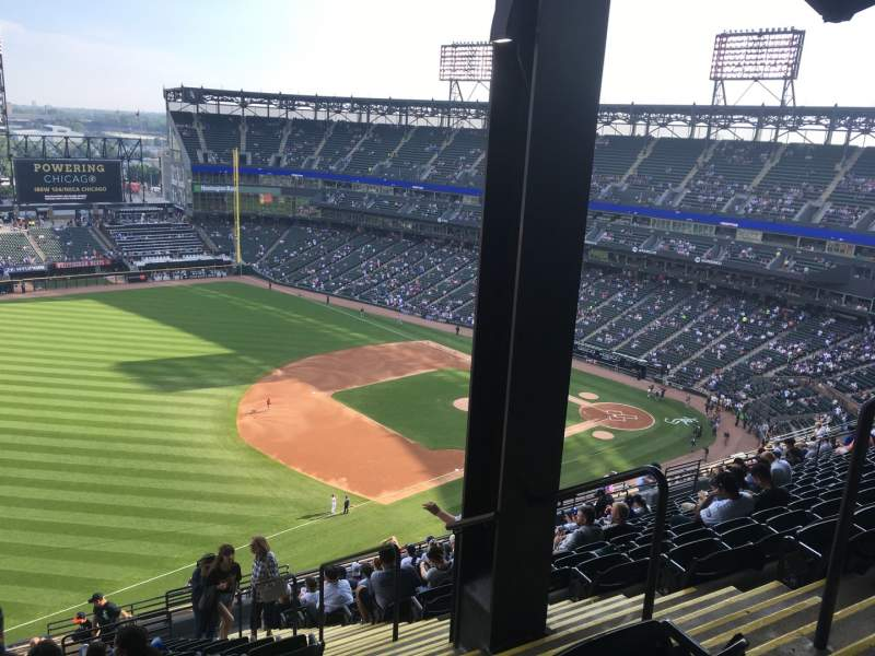 Seating view for Guaranteed Rate Field Section 548 Row 20 Seat 4