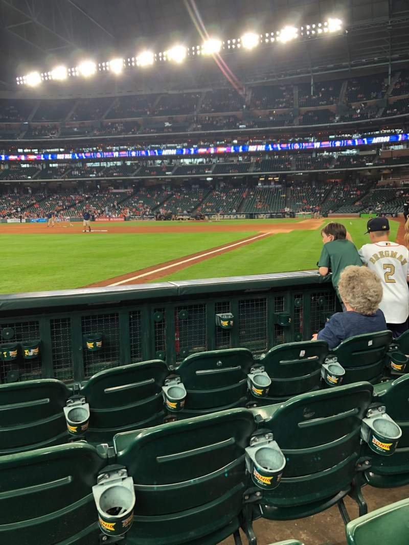 Seating view for Minute Maid Park Section 108 Row 4 Seat 4