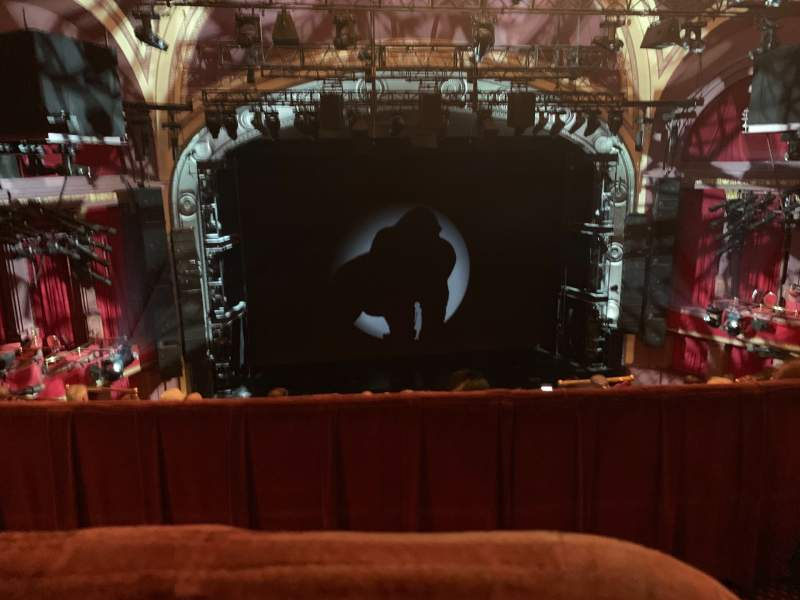 Seating view for Broadway Theatre - 53rd Street Section Rear Mezzanine LC Row A Seat 102