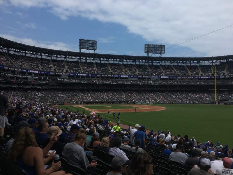Seating view for Guaranteed Rate Field Section 110 Row 30 Seat 11