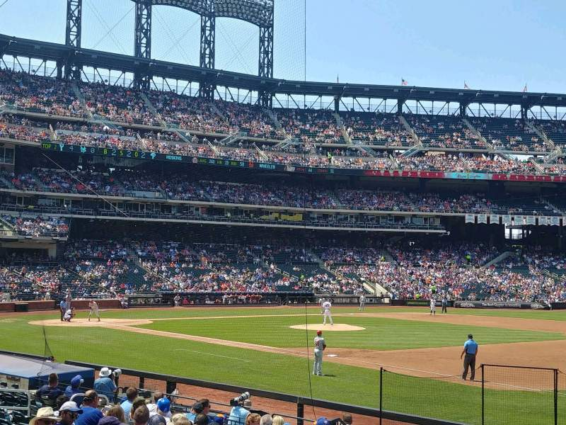 Seating view for Citi Field Section 110 Row 14 Seat 8