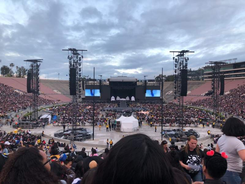 Seating view for Rose Bowl Section 11-H Row 42 Seat 121