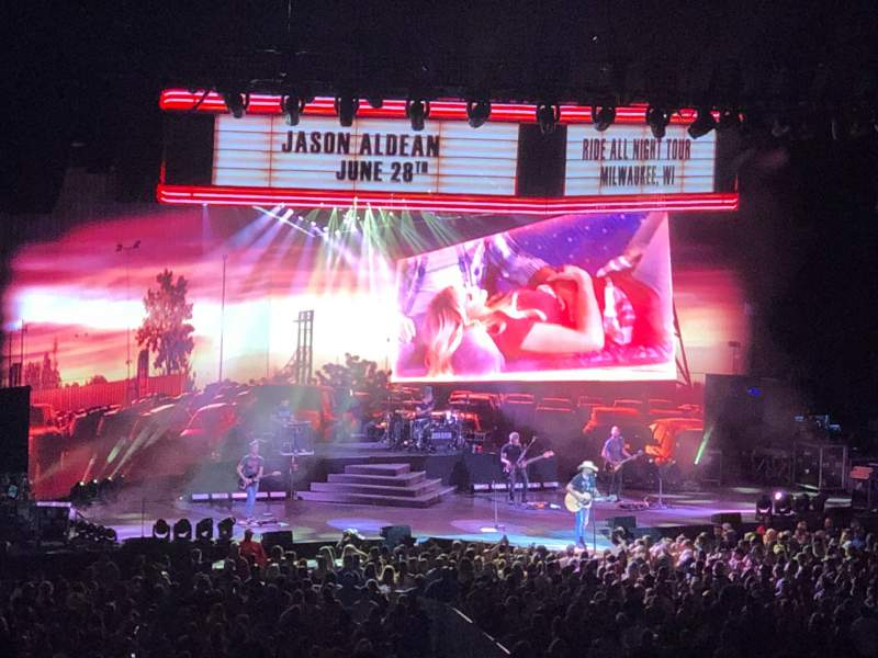 Seating view for American Family Insurance Amphitheater Section 18 Row L Seat 16