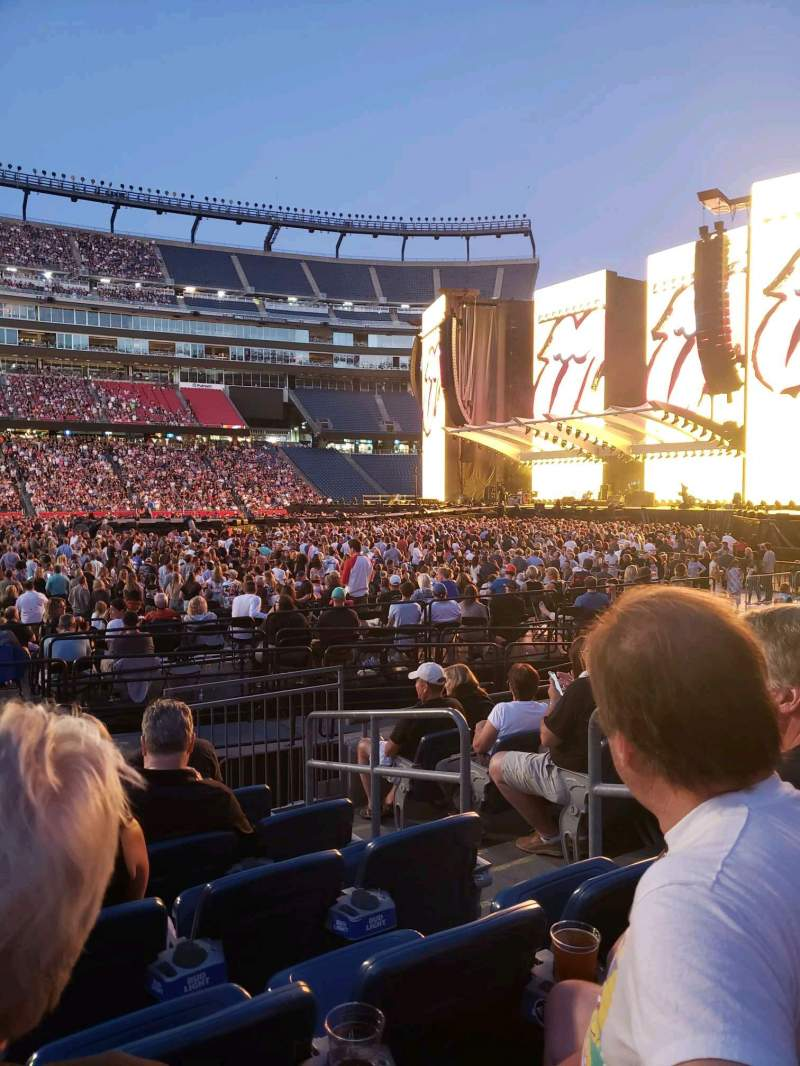 Seating view for Gillette Stadium Section 132 Row 7 Seat 4