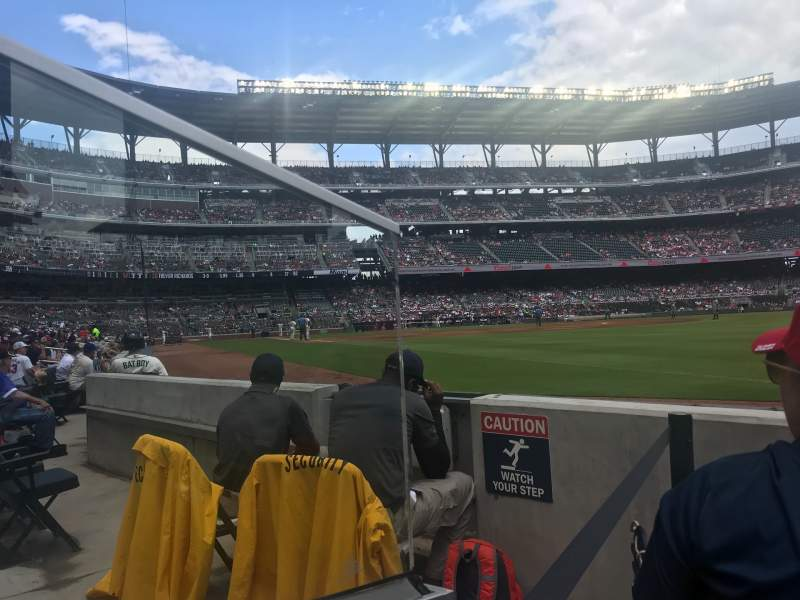 Seating view for SunTrust Park Section 11 Row 3 Seat 7