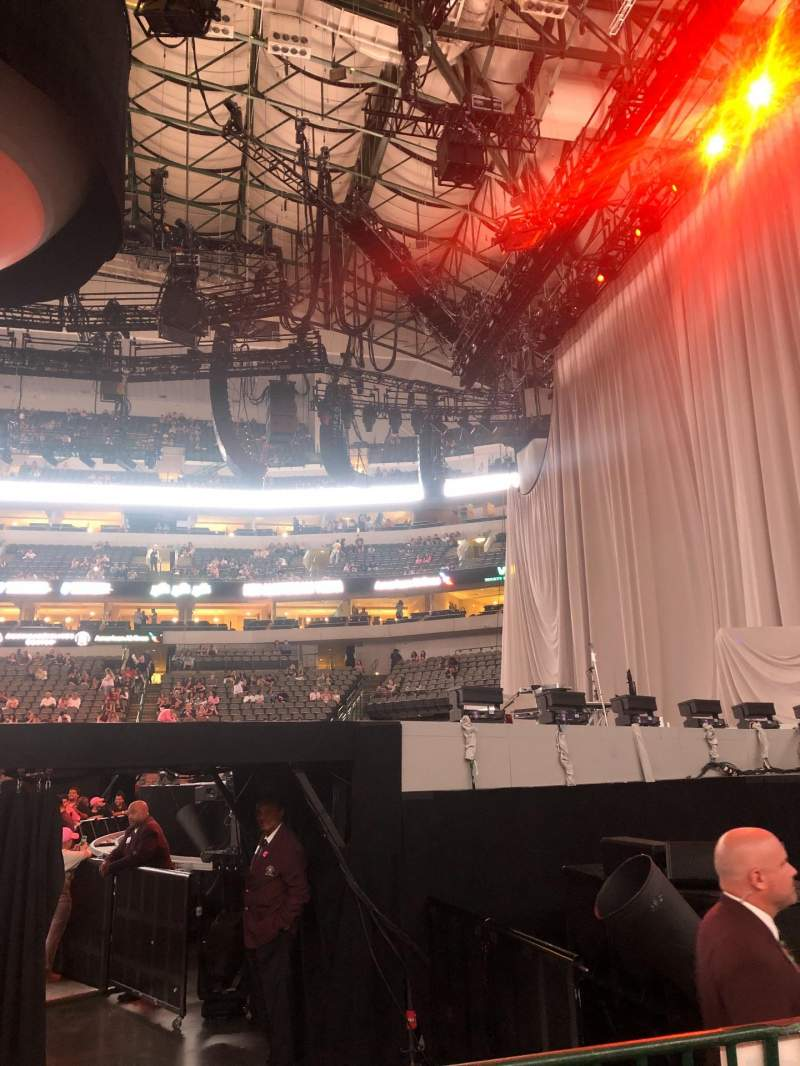 Seating view for American Airlines Center Section 104 Row C Seat 5