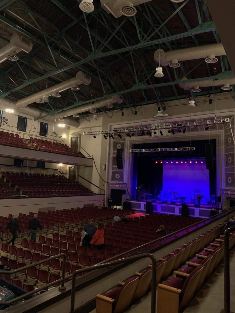 Seating view for Plymouth Memorial Hall Section Mezzanine Right 3 Row C Seat 37