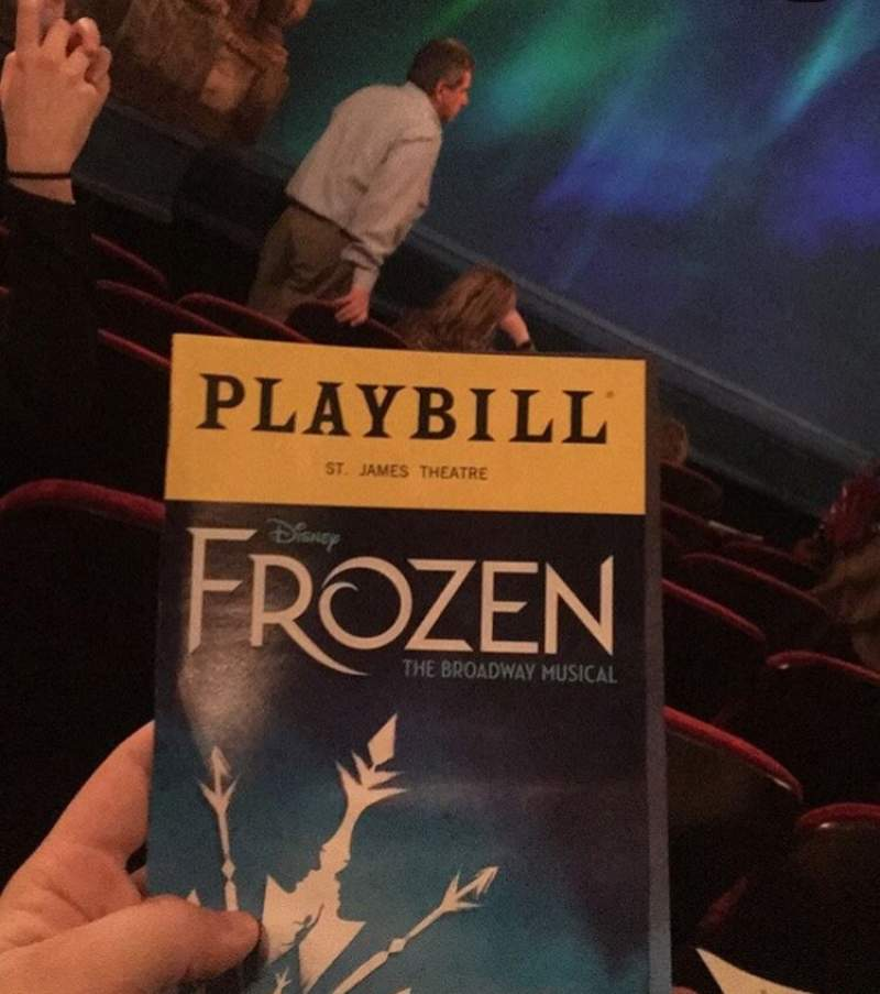Seating view for St. James Theatre  Section Orchestra L Row f Seat 17